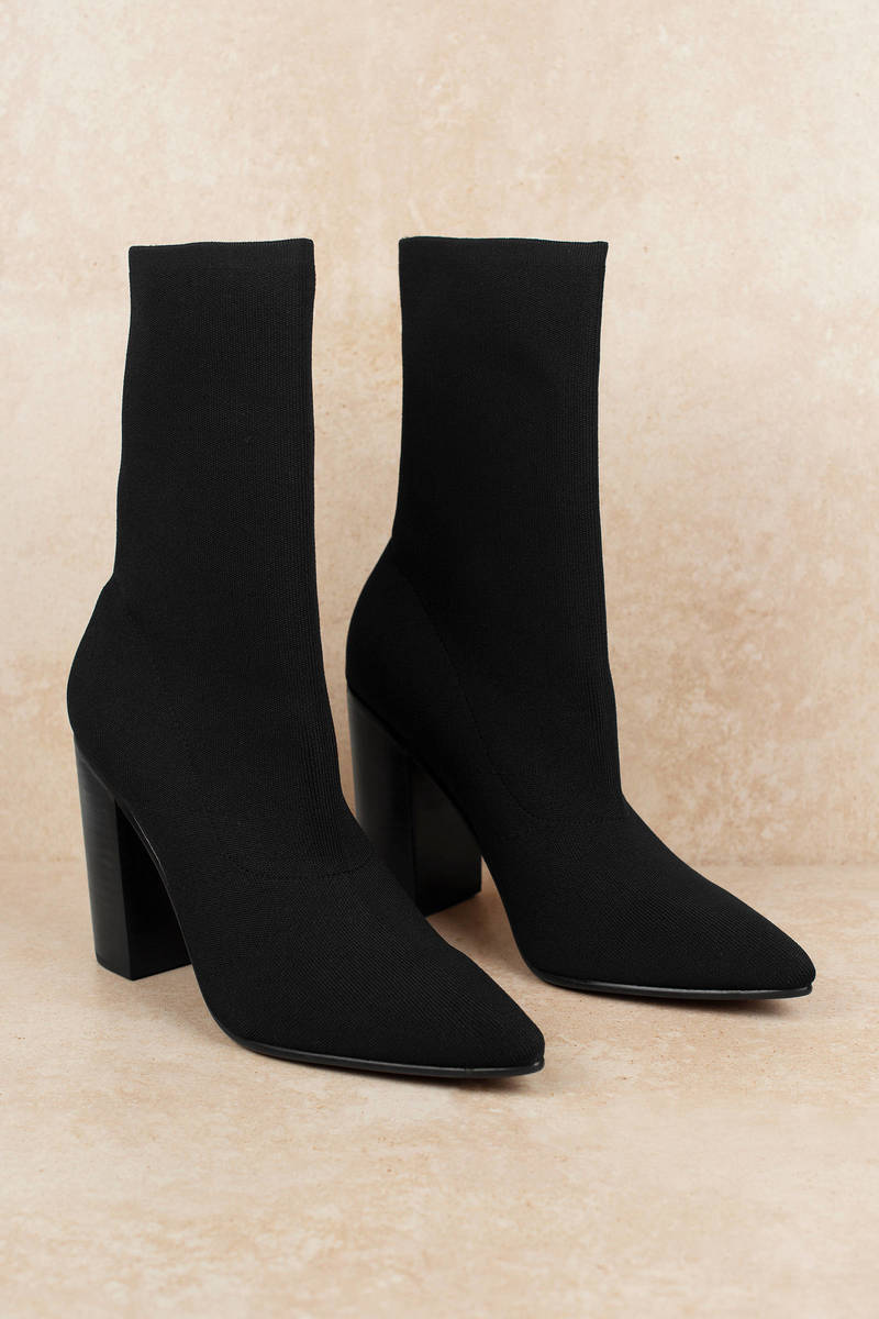 Danni Mid Calf Sock Booties