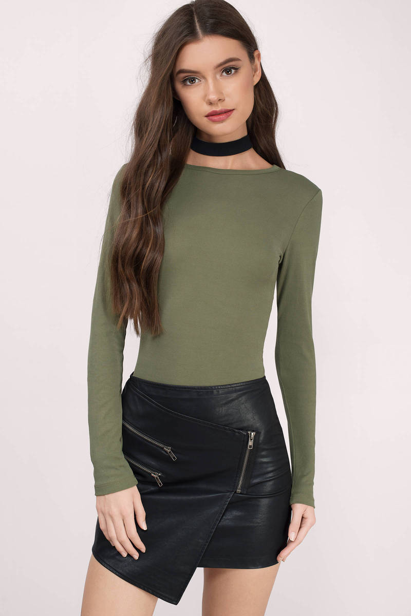 Irma Olive Jersey Knitted Shirt